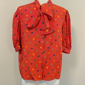 Short sleeve  YSL silk blouse